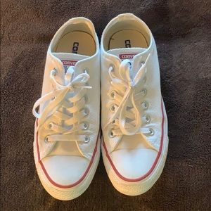 White converse shoes. No stains.